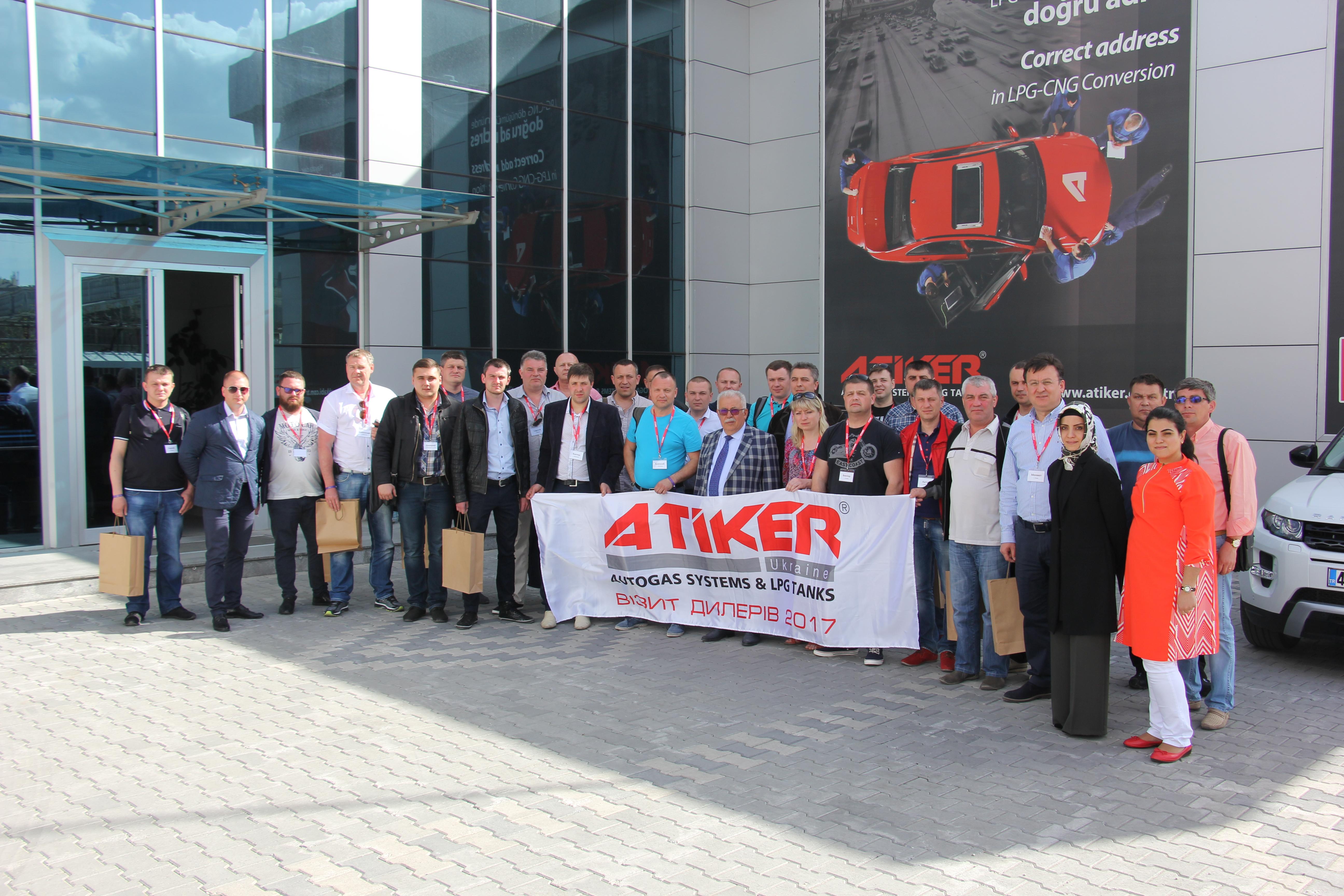 Nisan 2017'de ATİKER Ukrayna bayi ağı temsilcileri fabrikamızı ziyaret ettiler